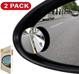 ILYPLUS Blind Spot Mirror, 360°Rotatable Waterproof Convex Rear View Mirror Adjustable Wing Mirror BlindSpot Side Mirrors ...