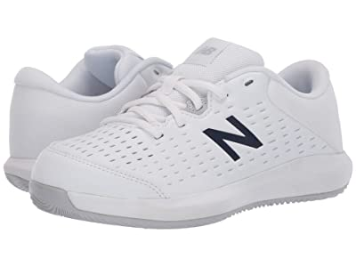 New Balance Kids KC696v4 Tennis (Little Kid/Big Kid) (White/Multi) Kids Shoes