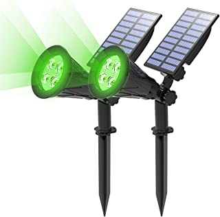 T-SUN Solar Spotlight LED Outdoor Wall Light, IP65 Waterproof, Auto-on at Night/Auto-Off by Day, 180°Angle Adjustable for ...