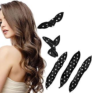 Curlers Rollers Sponge Foam Hair Curlers Night Sleep Magic Soft Hair Curlers, Black, Pack of 30