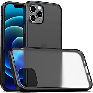 VWMYQ Translucent Matte Case Compatible with iPhone 12 Pro Max 6.7 Inch Anti-Fingerprint PC Back Shockproof TPU Soft Edge ...