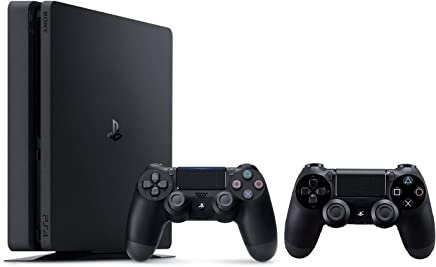 Sony PlayStation 4 500GB Slim with 2 Dual Shock Wireless Controllers