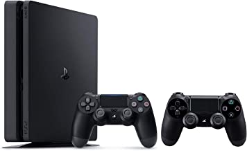 Sony PlayStation 4 500GB Slim Console with 2 DualShock4 Wireless Controllers - Black