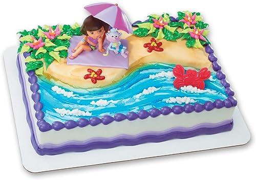Dora the Explorer plage Fun DecoSet Cake Decoration