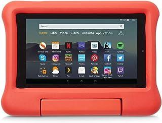 Custodia per bambini per tablet Fire 7 (compatibile con dispositivi di 9ª generazione, modello 2019), Rosso