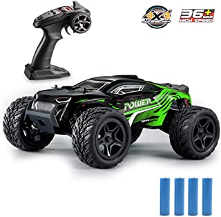 GMAXT Rc Cars,G172 Remote Control Car,1/16 Scale 36km/h,2.4Ghz 4WD High Speed Off-Road Vehicles with 2 Rechargeable Batteries,Give The Child Best Choice