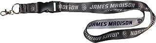 NCAA James Madison JMU Dukes Premium Lanyard Key Chain, Charcoal Edition