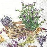 Il Sapore della Provenza , Confezione di 20 tovaglioli floreali da cocktail 3 veli, Motivo: Fiori, (25 x 25 cm)
