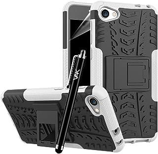 Alcatel A5 LED-fodral – hårt baksidefodral kraftig rustning tuff premium kvalitet stötsäker byggare [stativvisning] skydd ...
