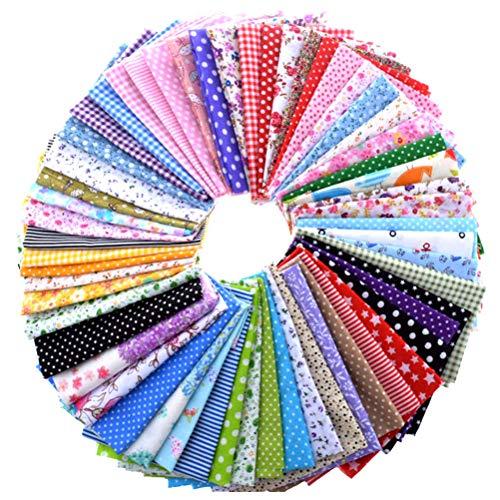 50 stuks vilten vellen knutselvilt stof 20 x 20 cm voor doe-het-zelf patchwork gekleurde naaimachine 20 x 20 cm - 50 stuks.