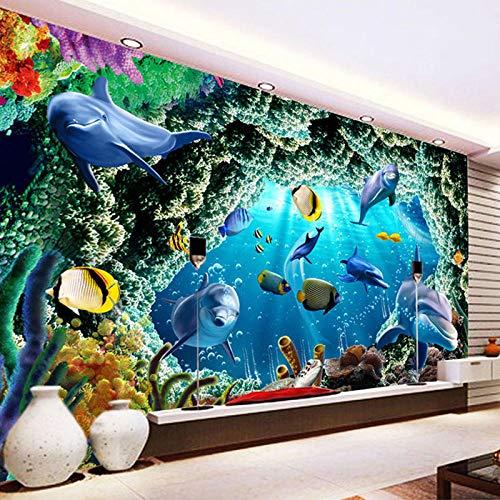 LOVEJJ Fototapeten Aquarium 400cmx280cm Tapete Wandbilder Wohnzimmer Schlafzimmer Büro Flur Dekoration Moderne Wanddeko Kunstdruck