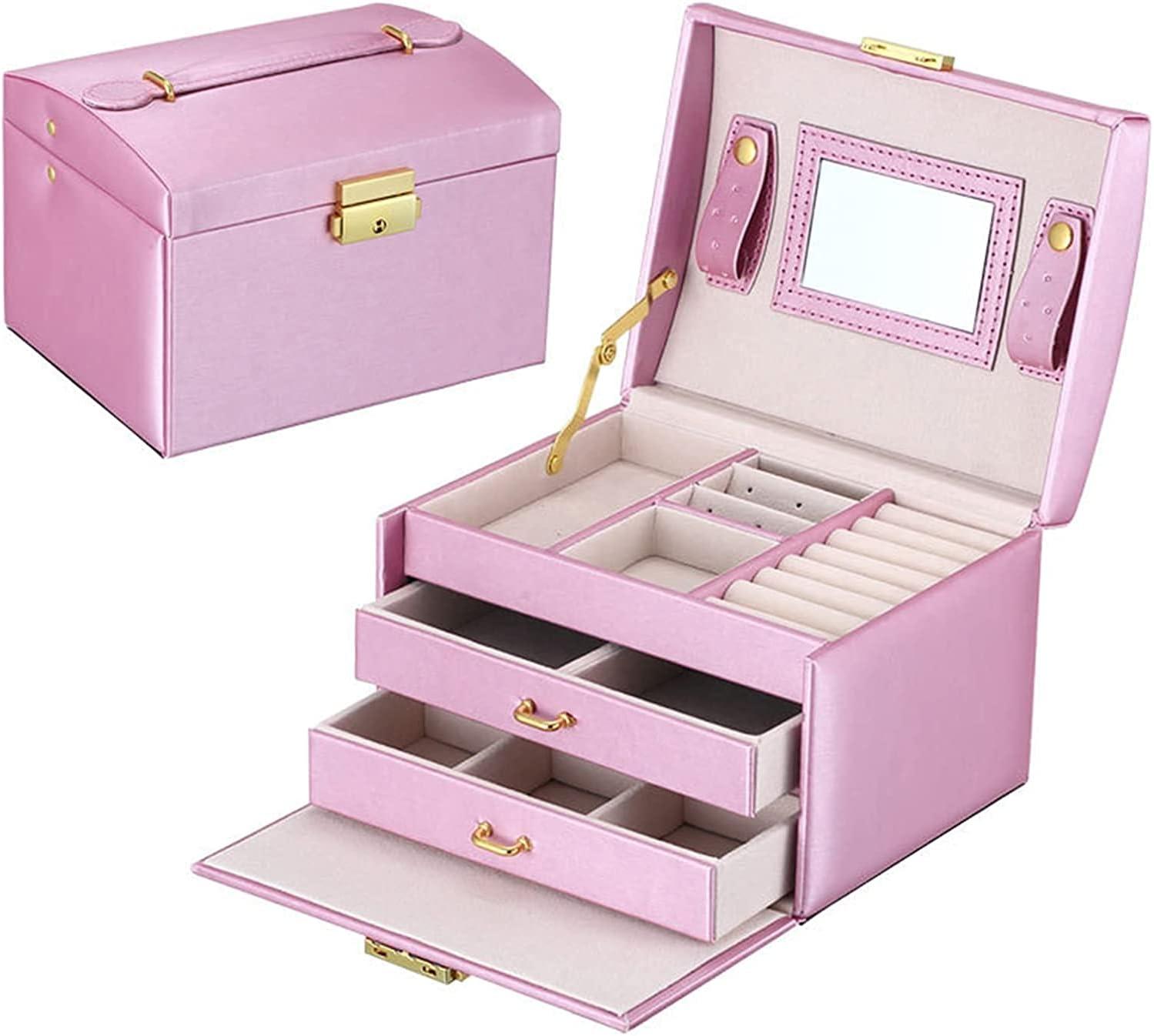 Ghlevo PU Attention brand Jewelry Box Organizer Storage Ca Time sale