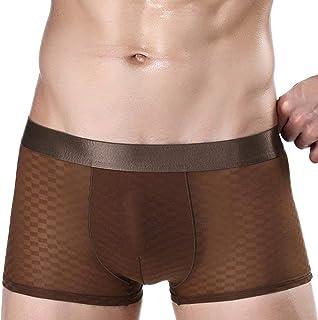 Underpants Men Men are Modern Ice Casual Silk Breathable Flat Warm Underwear Boxer Shorts Underpants