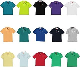 Official Brand Slazenger Plain Polo Shirt Junior Boys Tops T-Shirt Outerwear