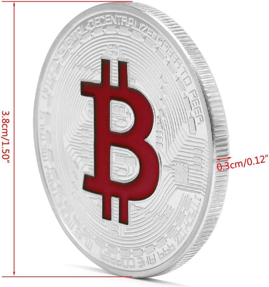 MINGSTORE Monedas conmemorativas de Bitcoin chapadas en Oro Colecci/ón de Arte BTC Coleccionable F/ísica