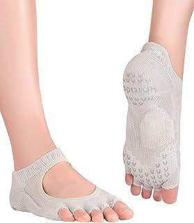 Knitido, Kasumi, Calcetines de Yoga con dedos abiertos antideslizantes