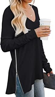 Women's Causal V-Neck Soft Raglan Long Sleeves...