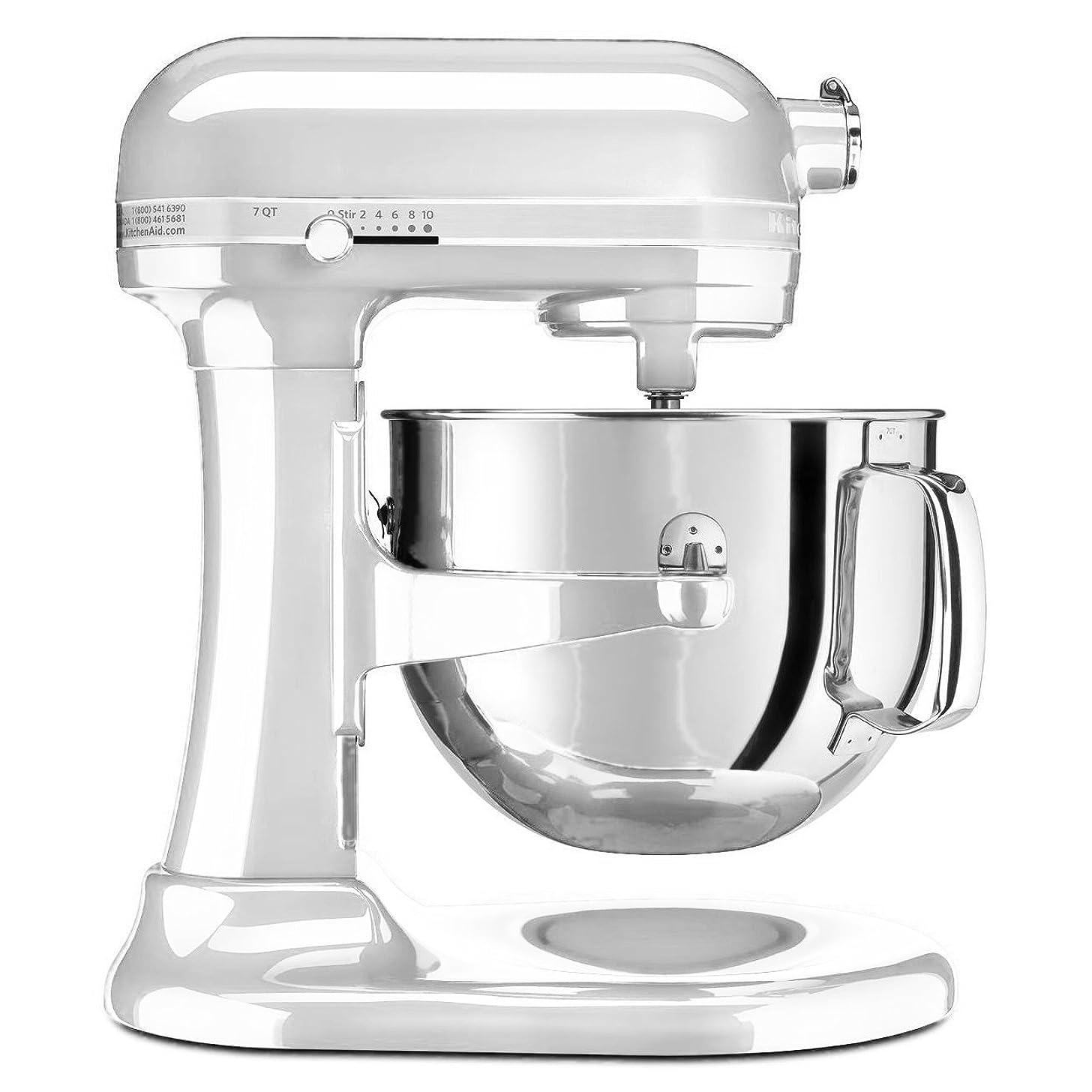 KitchenAid KSM7586PFP 7-Quart Pro Line Stand Mixer Frosted Pearl White