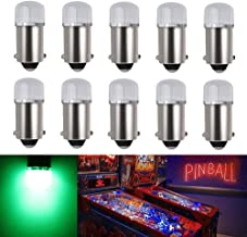 EverBright 10-Pack Green BA9S T11 756 1893 1847 Bulb Replacement for Pinball Machine Light Bulbs Games Machine Toy Car Lig...