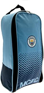 Manchester City F.c. Boot Bag Nylon Bootbag Zipped Opening