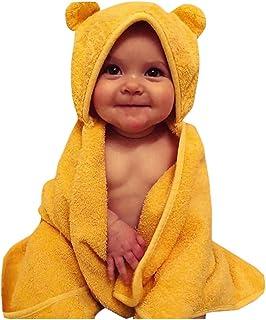 DOLYKUI Toddler Boys&Girls Solid Hooded Flannel Bathrobes Towel Night-Gown Sleepwear, Baby Fashion Autumn Winter Christmas Warm Sleepwear