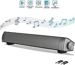 Bluetooth Sound Bar, Hi-Fi Subwoofer Speaker Noise Reduction AUX/TF Card TV Phone PC Wireless Sound Bar