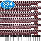 szdc88 Trommelschleifersatz - 384-tlg. Schleifbänder aus Aluminiumoxid, Schleifpapierhülsen, einschließlich 360 Schleifbänder, 24 Trommeldorne für Rotationswerkzeug