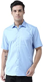 Zeal Half Sleeve Shirt for Men Cotton Casual Beach Wear Regular Fit Plain or Solid