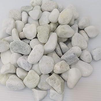 [砂利 白玉砂利 20kg]お庭にぴったりとっても綺麗なパールホワイト化粧玉石pe02
