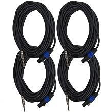 Seismic Audio - SASPT14-50 (4 Pack) - 50 Foot Speakon to 1/4 PA DJ Speaker Cable - 2 Conductor - 14 Guage