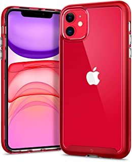 【Caseology】 iPhone 11 ケース カバー 二重構造 耐衝撃 iPhone11 ケース TPU + PC 背面クリア 耐久性 衝撃吸収 薄型 MIL規格取得 スカイフォール (レッド)
