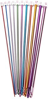 Buytra 11 Pieces Tunisian Afghan Crochet Hooks Aluminum Knitting Needles Set, Multicolor, 2 mm to 8 mm