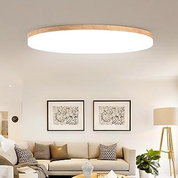 Lozse LED Deckenleuchte weiß 9W Holz Deckenleuchten für Küchen Wohnzimmer  Hotel Badezimmer Korridor Größe:9cm