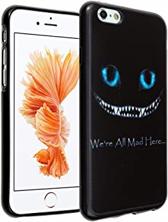 iPhone SE Case Alice in Wonderland We're all mad here Cheshire Cat Smile Face iPhone 5 Case DURARMOR FlexArmor Soft TPU Bumper Case Slim ScratchSafe Shock Absorbing Defender for iPhone 5SE Cheshire