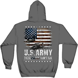 Erazor Bits Veteran | Army These Color Don't Run Hooded Sweat Shirt MM162SW