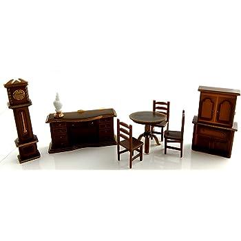 Échelle 1//12th salle à manger ensemble de meubles UK maison de poupées miniatures