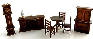 Dollhouse Miniature 1:48 Scale Plastic Dining Room Furniture Set Suite