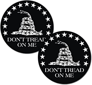 Gadsden Flag Don't Tread On Me Round (2 PACK) - Full Color Printed - (size: 2