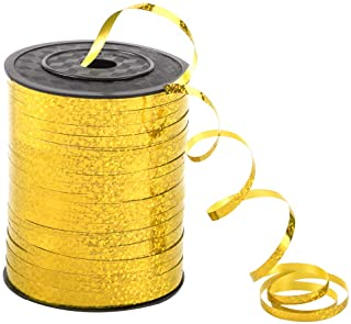 500 Yards Golden Crimped Curling Ribbon Shiny Metallic Balloon Roll for Gift Box Wrapping Ribbon Florist Flowers Decoratio...
