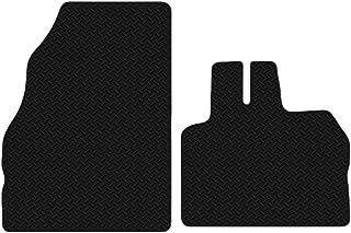 Carsio Auto Fußmatten aus Gummi, für Renault Kangoo Van ab 2009, 3 mm, Schwarz, 2 teiliges Set