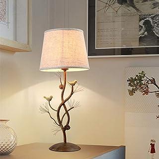 GDICONIC Lampe de Table Lampe Nordic American Country Retro Creative Chambre à Chevet Lampes de Chevet Lampes de Table Déc...