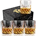 4-Pack OPAYLY 10oz Crystal Whiskey Glasses Set