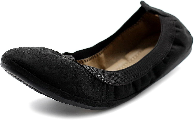 Ollio Women's shoes Faux Suede Comfort Ballet Flat