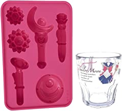 Sailor Moon Silicone Chocolate and Ice Cube Mold Tray and Sailor Moon Cup Set-2, BPA Free (Mold/Cup set)