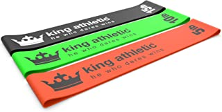 King Athletic Resistance Bands for Legs and Butt :: Exercise Loop Band Set :: Stretching Workout Loops for Arms, Glute, Fitness Strength Training and Sports Physical Therapy