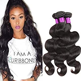 "Hairpieces Hairpieces Fashian Body Wave Curly Hair Brazilian 100% Unprocessed Human Hair Extensions - Natural Black Color (10""-20"",1 Bundle,50g) for Daily Use and Party"