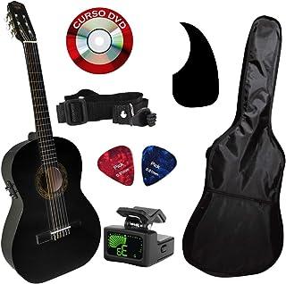 Guitarra electroacústica Brx negra paquete todo incluido
