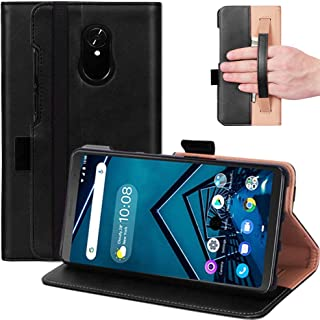 JAMIE Case for Lenovo Tab V7 7.0'' PB-6505NC, Premium PU Leather Hand Strap Case with Kickstand Cover Card Slots Shell Ful...