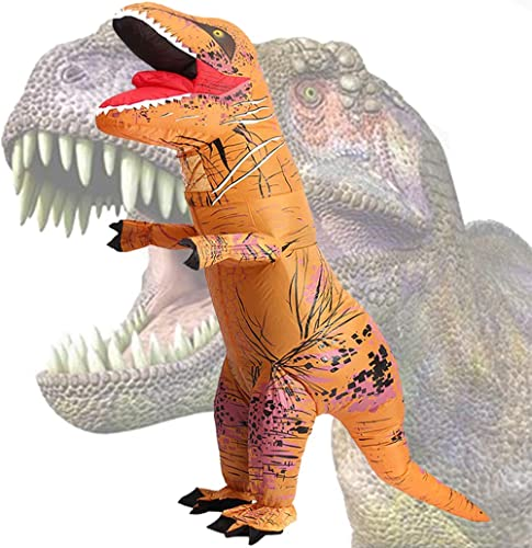 Wild Cheers Inflatable Dinosaur Costume Adult, 2.2m high, Strong Shape, Super Domineering, Inflatable T-Rex Costume S...