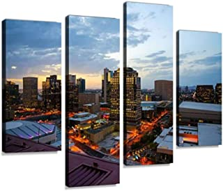 Phoenix Downtown Lights Canvas Print Artwork Wall Art Pictures Framed Digital Print Abstract Painting Room Home Office Dec...